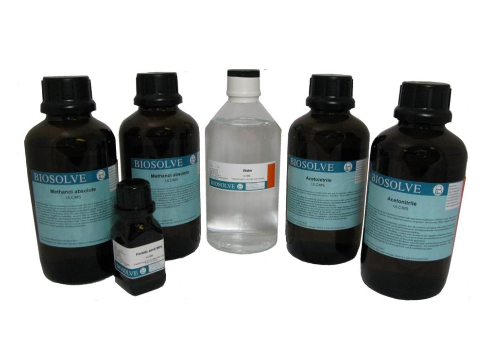 Biosolve HPLC Solvents in Varying Product Packs