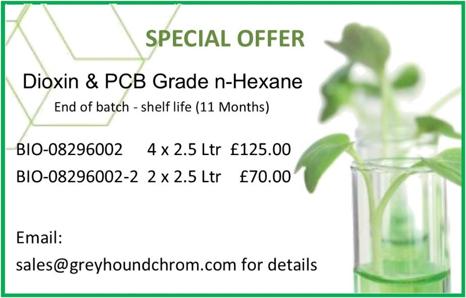 Dioxin & PCB special offer