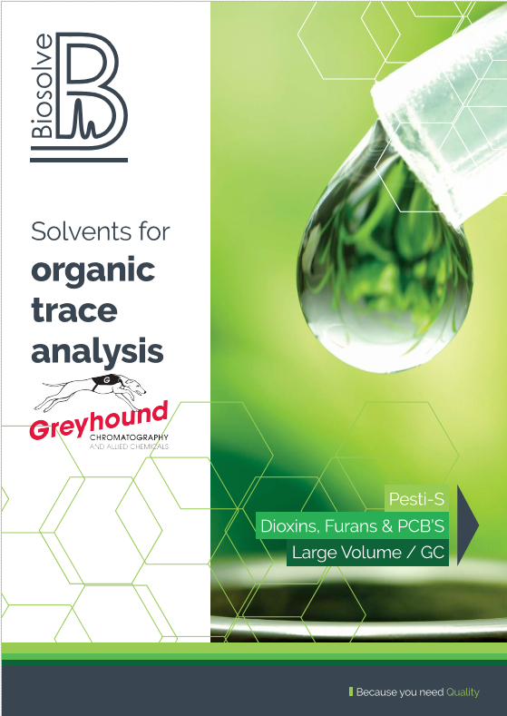 Biosolve Organic Trace Analysis Cover