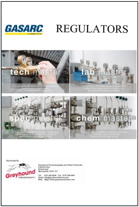 Gas Arc Regulators Catalogue