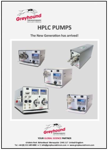 Greyhound Chromatography HPLC Pumps Catalogue Cover