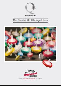 Greyhound Chromatography Q- Syringe Filters Catalogue