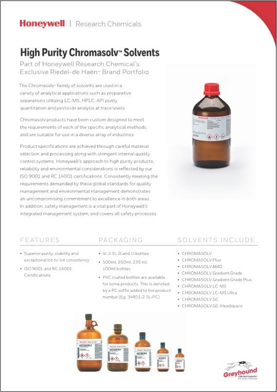 Chromasolv High Purity Solvents