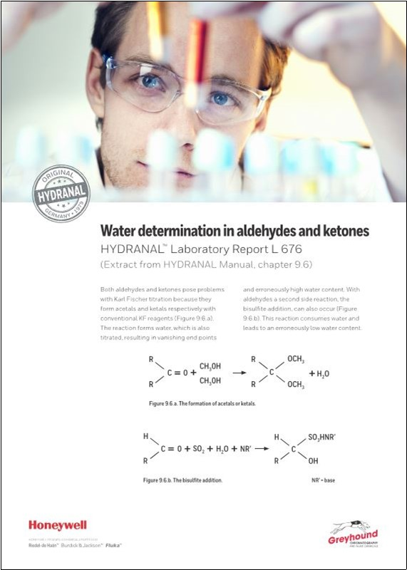 Honeywell Water Determinitation in Aldehydes and Ketones