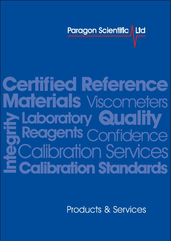 Paragon Scientific Reference Materials Catalogue Image