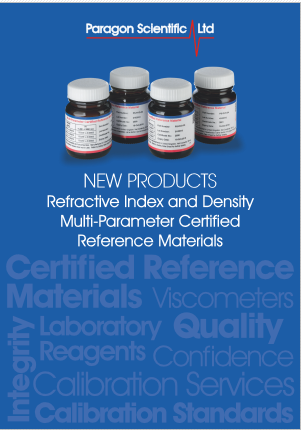 Paragon Scientific Refractive Index and Density Multi-Parameter Certified Reference Materials