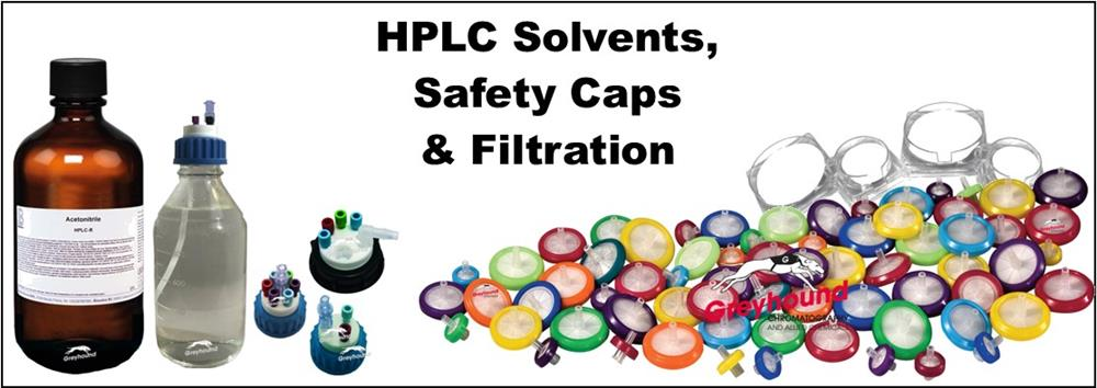 Solvents, Safety Caps and Membrane Filters