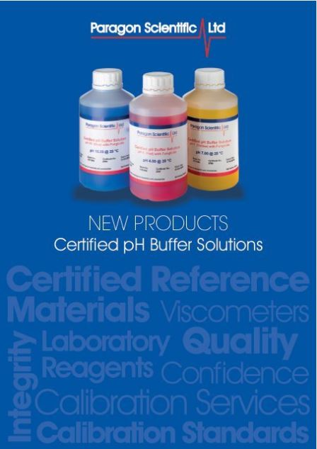 A5 Paragon Scientific Limited Flyers - pH Buffers