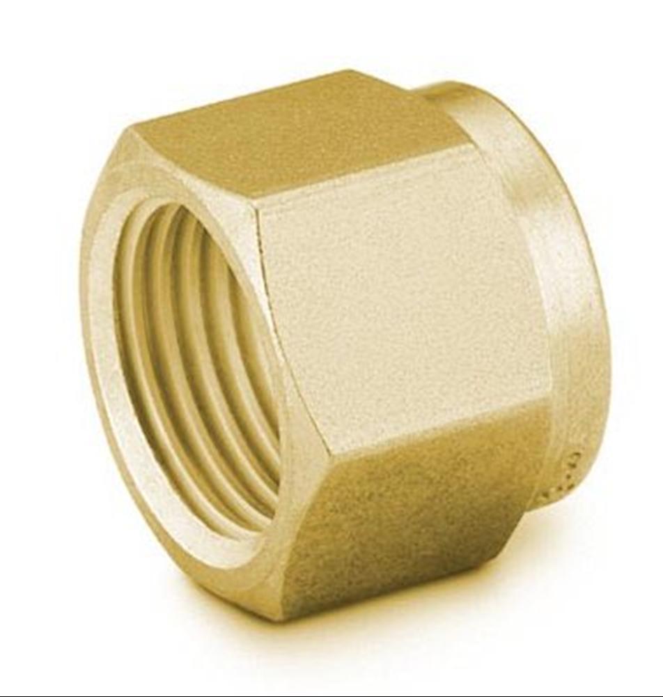 "Picture of Nut 3/16"" Brass Swagelok"