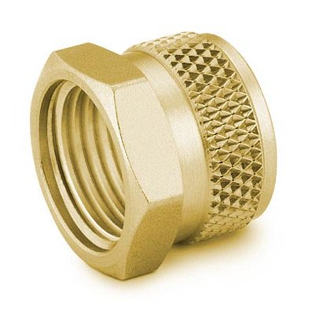 """Picture of Knurled Nut 1/8"""" Brass Swagelok"""