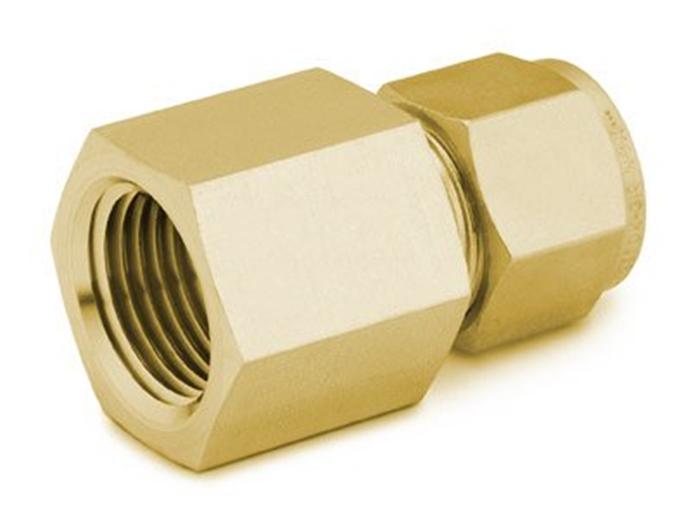"Picture of Female NPT Connector 1/4""T-3/8""P Brass Swagelok"
