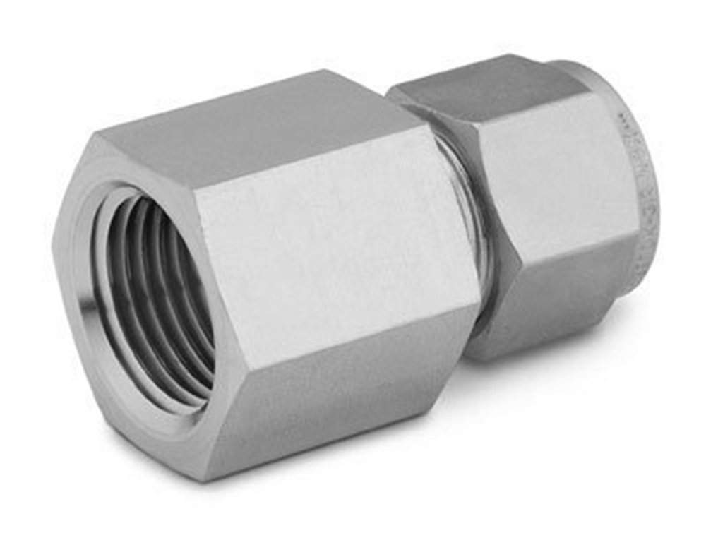 """Picture of Female NPT Connector 1/8""""T-1/4""""P S/S Swagelok"""