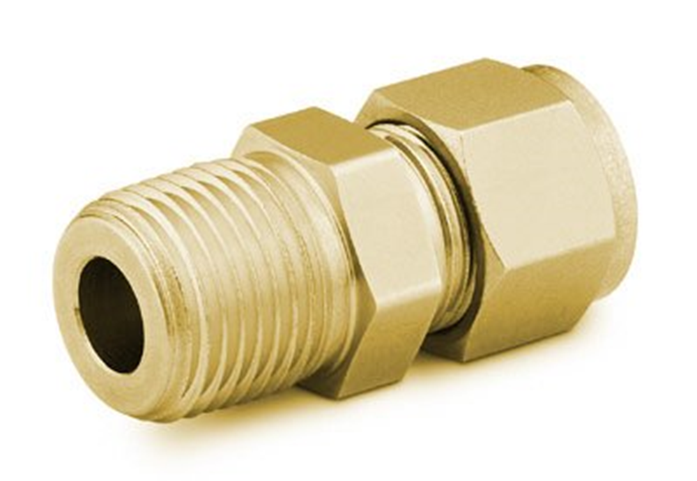 "Picture of Male NPT Connector 1/16""T-1/16""P Brass Swagelok"
