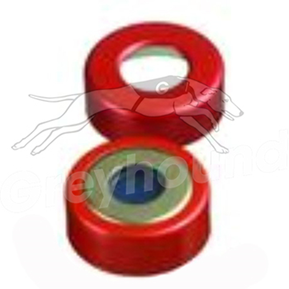 Picture of 20mm Crimp Cap, Two Part Tin Plate & Red Aluminium, with Chlorobutyl/PTFE Liner