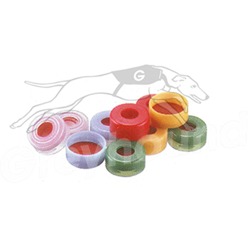 Picture of 11mm Snap Cap (Yellow) - Polyethylene, with Red Rubber/PTFE Seal