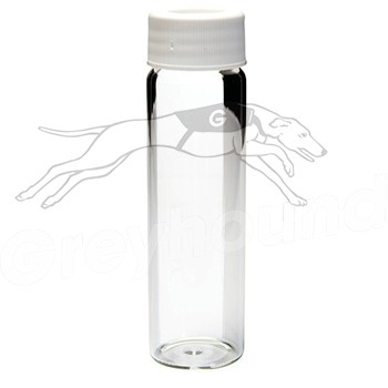 40mL TOC Vial, Clear Glass with Cap Cover Open Top cap with Silicone/PTFE Seal. 20ppb Certified