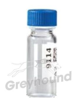 Virtuoso 2mL Snap Cap Wide Neck Vial, Clear Glass with V-Patch