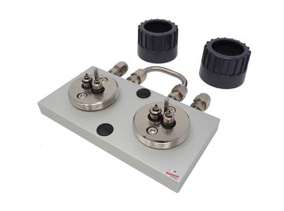 "Trajan Gas Filter Cartridge Base Plate, 1/4"" S/S (2 position)"