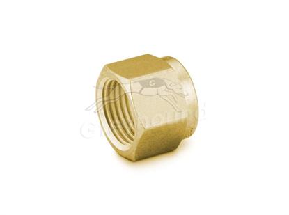 """Nut 3/16"""" Brass Swagelok"""