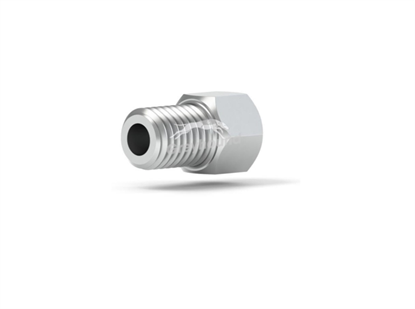 """Male Nut S/S 1/4-28 Coned, for 1/8"""" OD Tubing"""