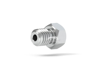 """Male Nut Short S/S 10-32 Coned, for 1/16"""" OD Tubing"""