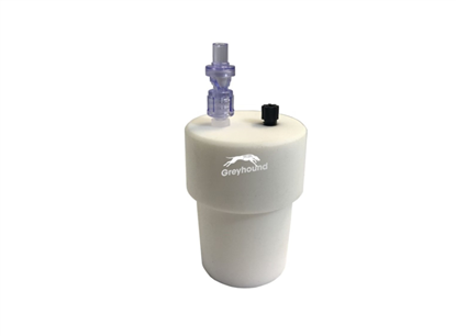 "Smart Healthy Cap for ground neck (29/32mm) with 1 outlet (1/8"" to 1/16"" ) + 1 air check valve"