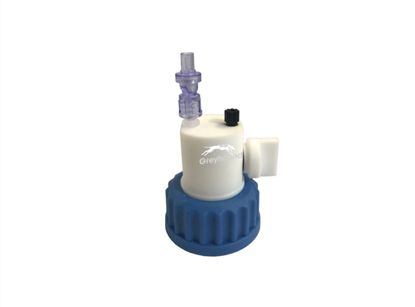 "Smart Healthy Cap GL45 with 1 outlet (1/8"" to 1/16"" ) with shut-off + 1 air check valve"