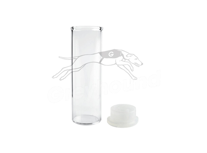 4mL Neckless Vial and Cap Combination Pack - Clear Glass with Polyethylene Cap.  For Waters 48