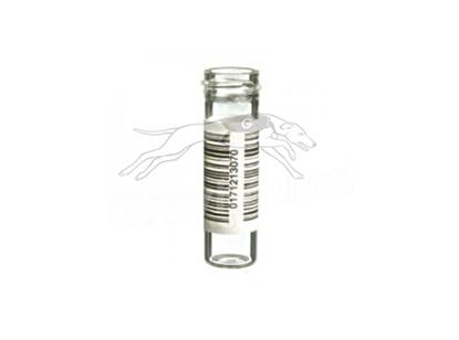 7mL Powder Vial with 14mm Custom External Thread -  Clear Glass