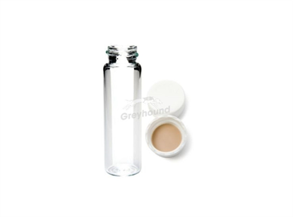 8mL Screw Top Storage Vial and Cap Combination Pack - Clear Glass with 15mm Solid cap with Silicone/PTFE Liner