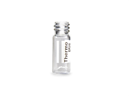 Virtuoso 2mL Screw Top Wide Neck Vial, Clear Glass with V-Patch