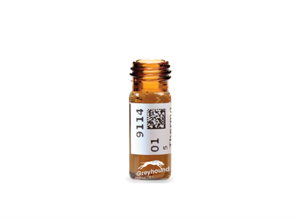 Virtuoso 2mL Screw Top Wide Neck Vial, Amber Glass with V-Patch