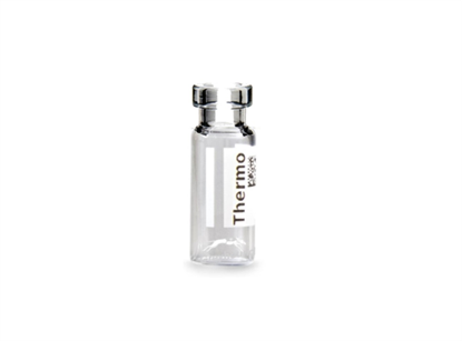 Virtuoso 2mL Crimp Top Wide Neck Vial, Clear Glass with V-Patch