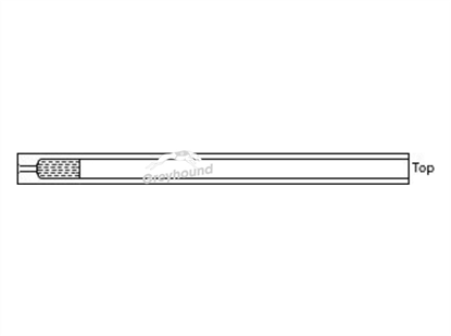 SGE Inlet Liner - Split/Splitless with single taper and quartz wool
