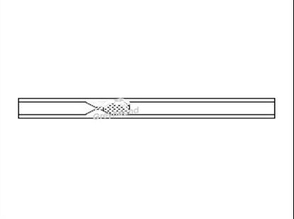 SGE Inlet Liner - Split/Splitless Recessed Gooseneck with quartz wool