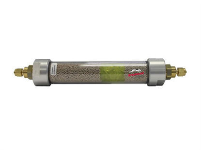 """Gas Dry Purifier, 88cc, 1/8"""" Brass Compression Fittings"""