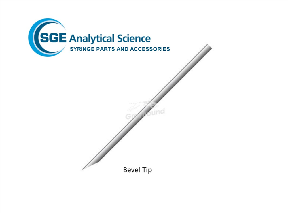 Picture of SGE Needle 115mm, 0.63mm OD, 0.24mm ID, Bevel Tipped for 25-500µL Syringes
