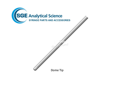 SGE Needle 50mm, 0.63mm OD, 0.32mm ID, Dome Tipped for 1-2.5mL Syringes (& 500µL eVol Syringes)