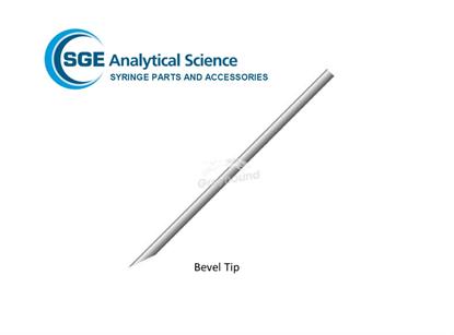 SGE Needle 115mm, 0.63mm OD, 0.32mm ID, Bevel Tipped for 1-2.5mL Syringes (& 500µL eVol Syringes)