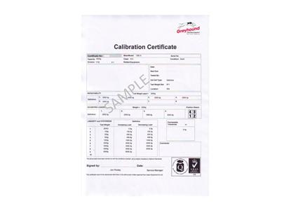 Calibration Certificate for Adam Balance