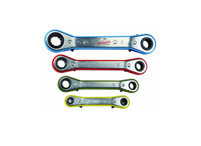 Metric Offset Ratcheting Wrench Set