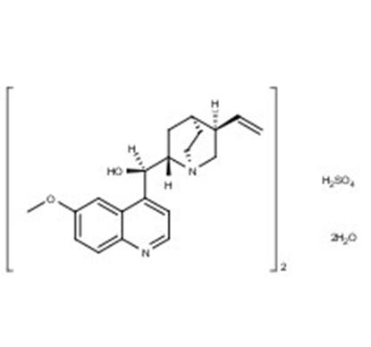 Quinine sulfate salt hydrate