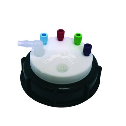"""Smart Waste Cap GLS80, (1/4"""") + 4 entries (1/8"""" to 1/16"""") and 1 charcoal cartridge filter port"""